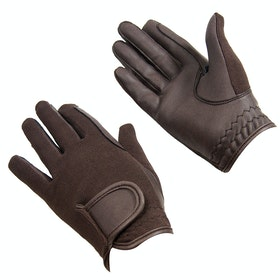 Bitz Synthetic Riding Gloves - Brown