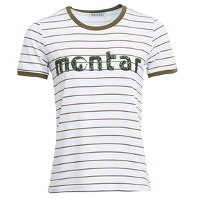 Montar Petra Ladies Short Sleeve T-Shirt - White Green