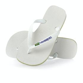 Havaianas Brasil Logo Sandals - White