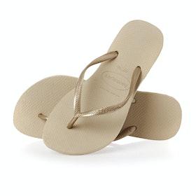 Havaianas Slim Womens Sandals - Sand Grey Light Sand