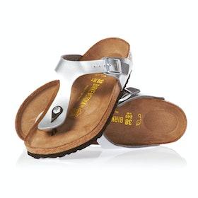Birkenstock Gizeh Birko Flor Sandals - Silver