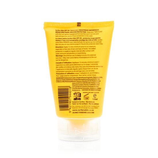 Protection Solaire Surfers Skin Mineralised SPF 30 Sunscreen 125ml