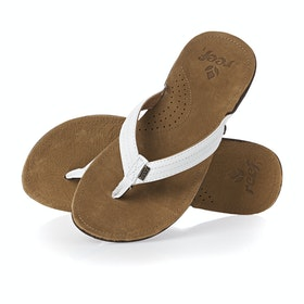 Reef Miss J Bay Womens Sandals - Tan White