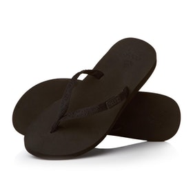 Reef Ginger Womens Sandals - Black Black