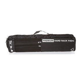 FCS Premium Hard Rack Pads for Surfboard Rack - Black