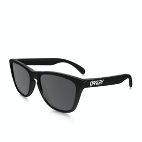 Oakley Frogskins Sunglasses - Polished Black ~ Grey