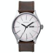 Nixon Sentry Leather Watch