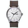 Nixon Sentry Leather , Klocka - Silver Brown