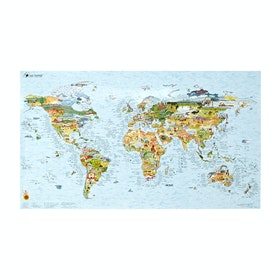 Awesome Maps World Surf Map Surf Accessory - Multi