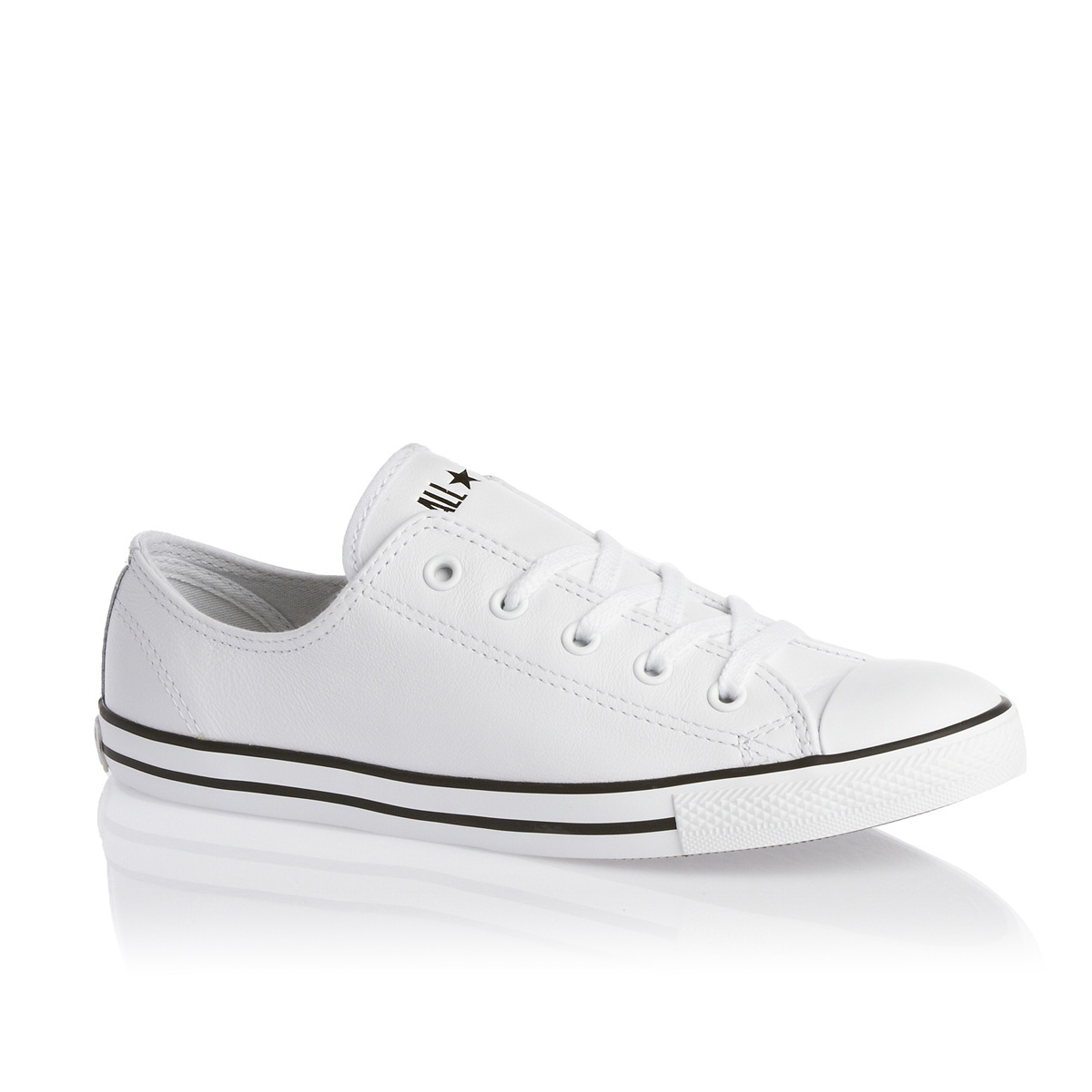 converse chuck taylor slim leather ox white