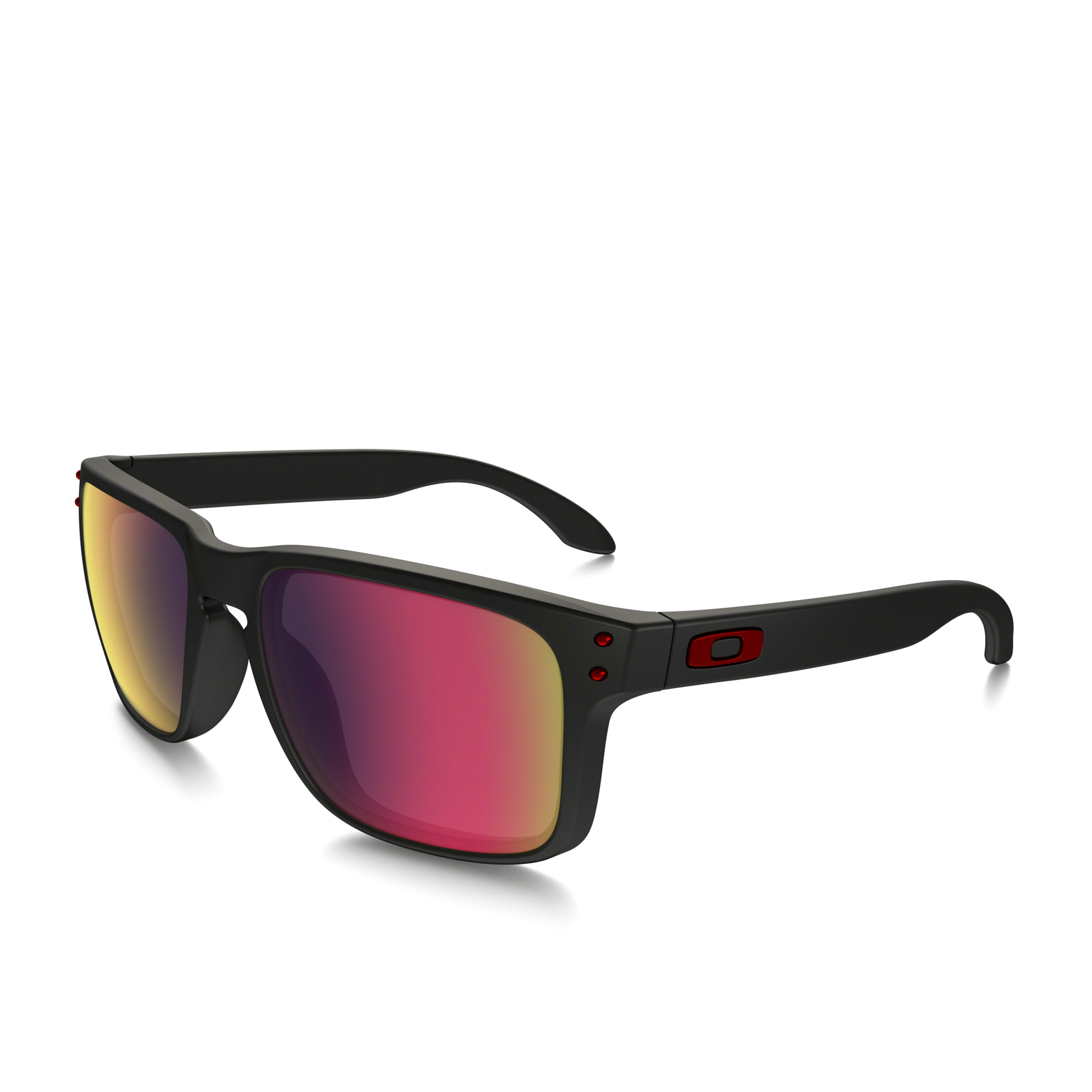 Oakley Holbrook Mens Sunglasses - Matte Black ~ Positive Red Iridium