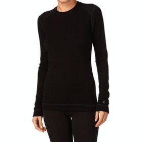 Smartwool NTS Midweight Crew Womens Base Layer Top - Black