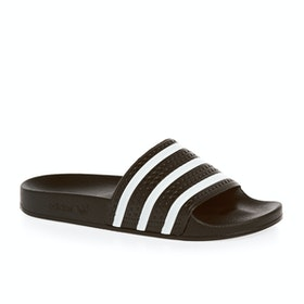 Adidas Originals Adilette Sliders - Black White