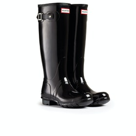 Hunter Original Tall Gloss Womens Wellies - Black