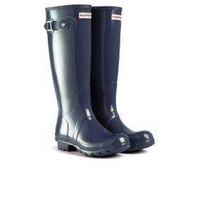 Hunter Original Tall Gloss Womens Wellies - Navy