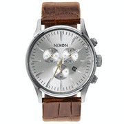 Nixon Sentry Chrono Leather Horloge
