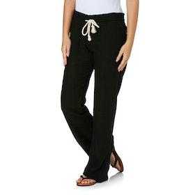 Roxy Oceanside Linen Womens Trousers - True Black