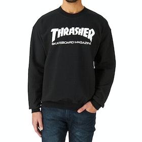 Thrasher Crew Skate Mag Logo Sweater - Black