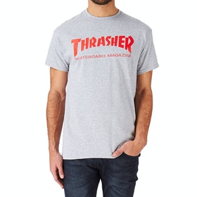 Thrasher Skate Mag Short Sleeve T-Shirt - Grey Red
