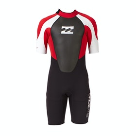 Combinaison de Surf Billabong Intruder 2mm Back Zip Shorty - Red