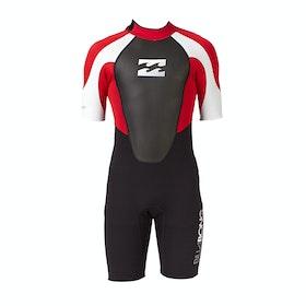 Billabong Intruder 2mm Back Zip Shorty Wetsuit - Red