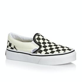 Vans Classic Kids Slip On Shoes - Checkerboard Black White