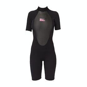 Billabong Launch 2mm Back Zip Shorty Womens Wetsuit - Black