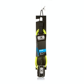 Ocean and Earth Regular Comp 6mm Surf Leash - Yellow