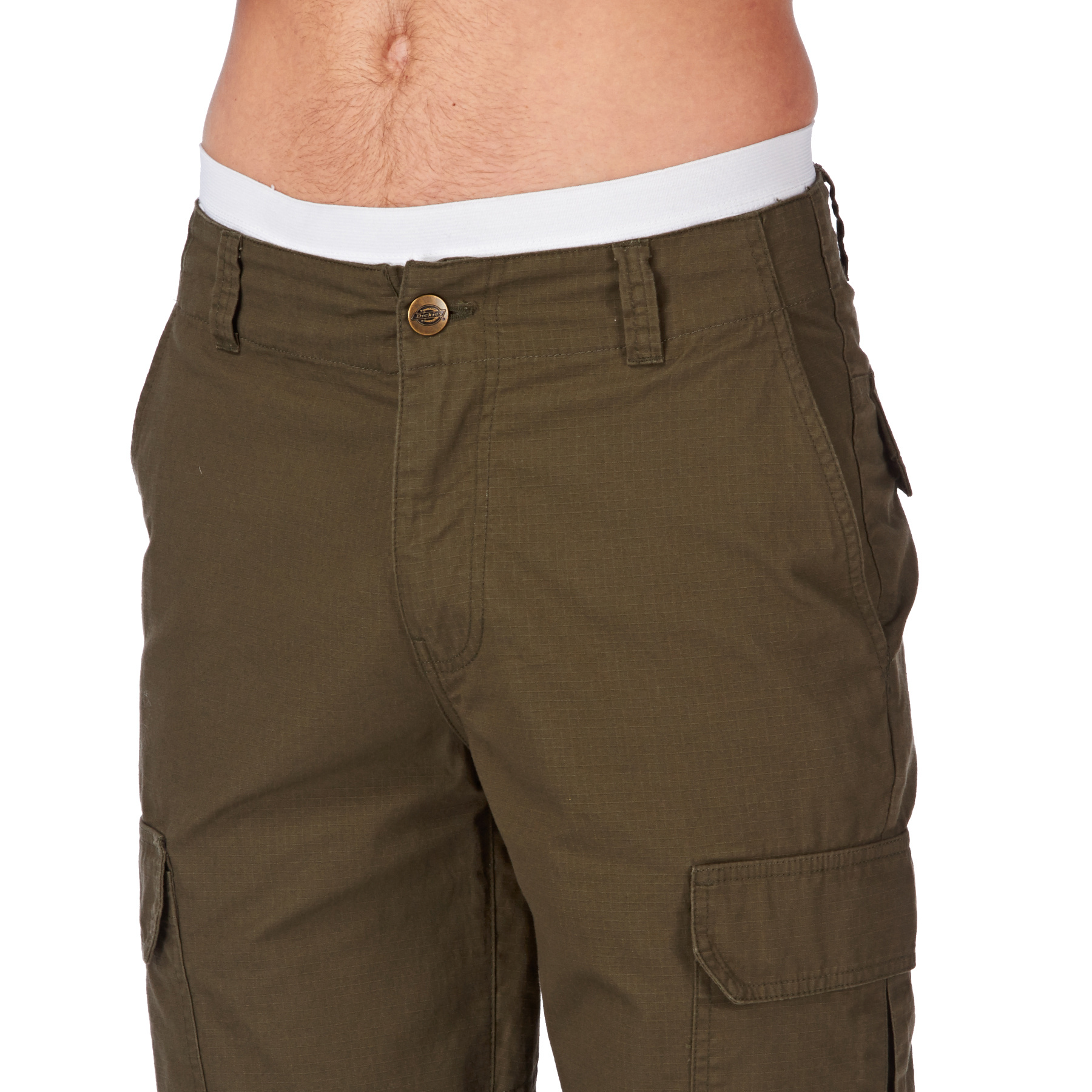Women's Dickies Relaxed Cargo Shorts, Size: 4, Dark Beige