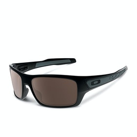 Oakley Turbine Sunglasses - Matte Black ~ Warm Grey