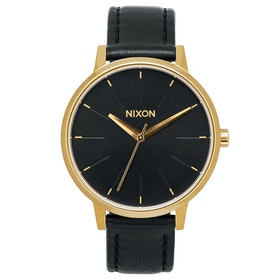Reloj Mujer Nixon Kensington Leather - Gold Black
