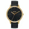 Nixon Kensington Leather Womens Watch - Gold Black