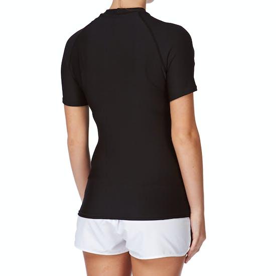 Rip Curl Flashbomb Short Sleeve Polypro Thermal Ladies Rash Vest