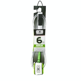 Ocean and Earth Regular 6ft Surf Leash - White
