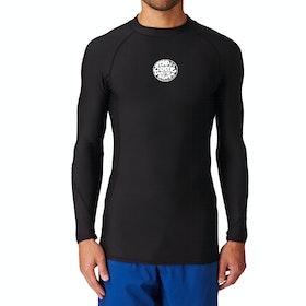 Rip Curl Flashbomb Long Sleeve Polypro Thermal Rash Vest - Black