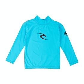 Rash Vest Girls Rip Curl Corpo Long Sleeve - Blue