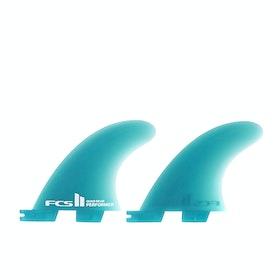 Quilla FCS II Carver Glass Flex Quad Rear - Aqua Blue
