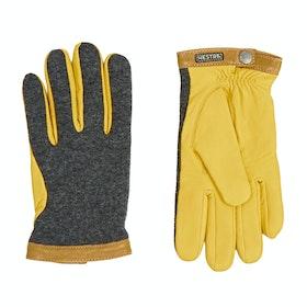 Gants Hestra Deerskin Wool Tricot - Grey Yellow