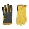 Hestra Deerskin Wool Tricot Gloves - Grey Yellow