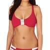 Seafolly Block Party D Cup Halter Bikini Top - Chilli Red