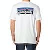 Patagonia P-6 Logo Cotton Kurzarm-T-Shirt - White