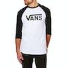 Vans Classic Raglan Long Sleeve T-Shirt - White Black
