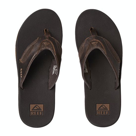 Reef Leather Fanning Mens Sandals