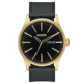 Montre Nixon Sentry Leather - Gold Black