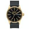 Nixon Sentry Leather Watch - Gold Black
