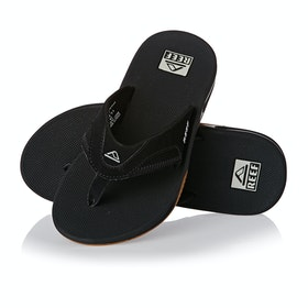 Reef Fanning Sandals - Black Silver