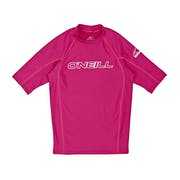 O Neill Basic Skins Short Sleeve Crew Kids Rash Vest