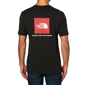 North Face Red Box Short Sleeve T-Shirt - TNF Black