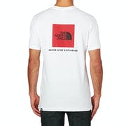 North Face Red Box Mens Short Sleeve T-Shirt