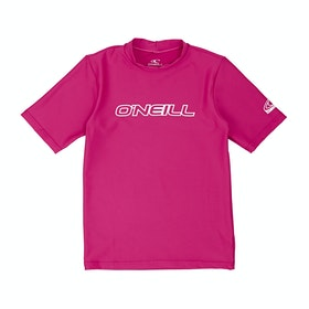 Rash Vest Girls O'Neill Basic Skins Short Sleeve - Watermelon